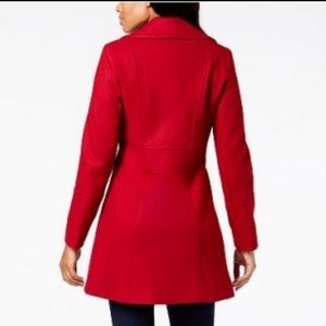 Anne Klein Red PEACOAT